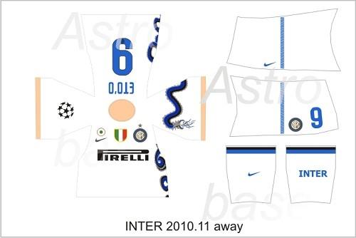 Inter away 2010/2011