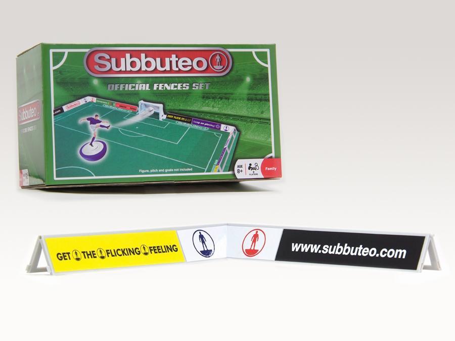 Transenna Subbuteo con 28 adesivi pubblicitari