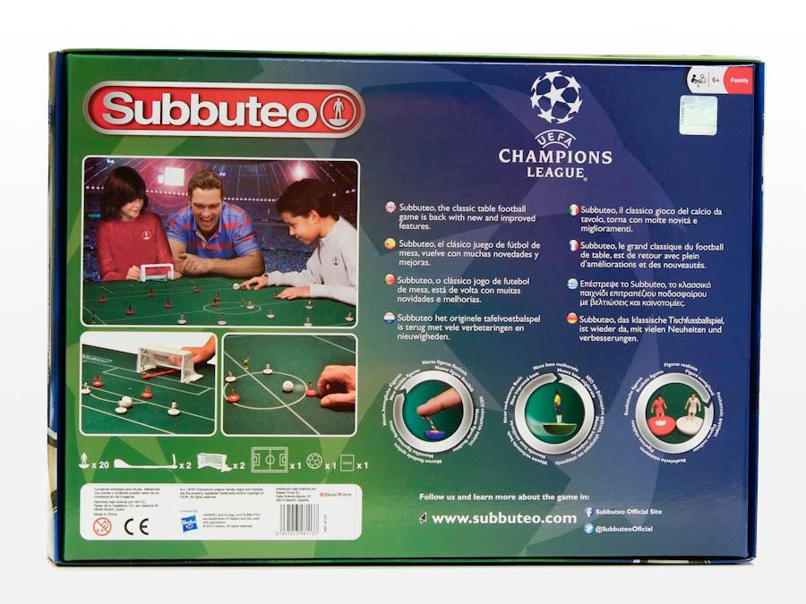 Scatola gioco SPECIALE CHAMPIONS LEAGUE SUBBUTEO campo da gioco ASTROBASE
