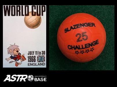1966 WORLD CUP England SLAZENGER 25 CHALLENGE ORANGE