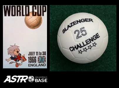 1966 WORLD CUP England SLAZENGER 25 CHALLENGE WHITE