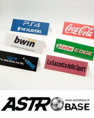 Cartoncini pubblicitari fondocampo