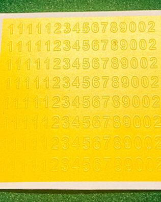 Numeri adesivi moderni
