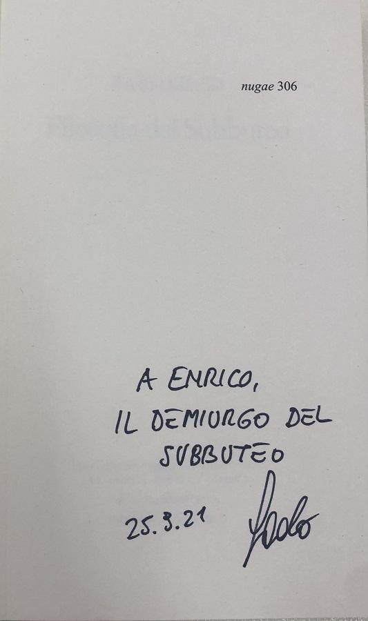 Libro FILOSOFIA DEL SUBBUTEO